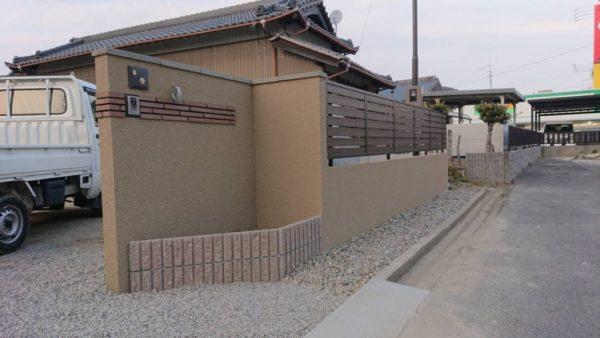 西尾市の門柱工事